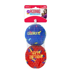 Hundleksak Occasions Birthday Balls 2-p Medium Kong