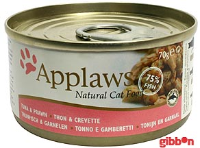 Applaws katt konserv Tuna Fillet&Prawn