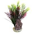 Plastväxt Palm och Sten Sydeco