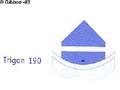 Lucksats Trigon 190 svart