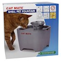 Vattenautmat Shell Pet Fountain Grå Cat Mate