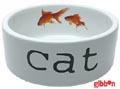 Keramikskål Vit med guldfiskar Beeztees