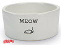 Keramikskål Vit Meow Beeztees