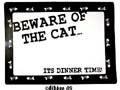 Underlägg Katt Beware of... MC