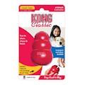 Hundleksak Kong Original gummi röd Small