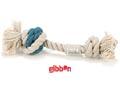 Flossy repknut Nodo Grå/blå med boll Small Beeztees