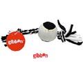 Flossy polyesterrepknut med boll Svart/Vitt Gibbon