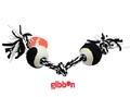 Flossy polyesterrepknut med bollar Svart/Vitt Gibbon