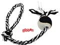 Flossy polyesterrepslägga med boll Small Svart/Vitt Gibbon