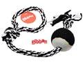 Flossy polyesterrepslägga med boll Medium Svart/Vitt Gibbon
