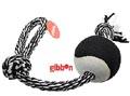 Flossy polyesterrepslägga med boll Large Svart/Vitt Gibbon